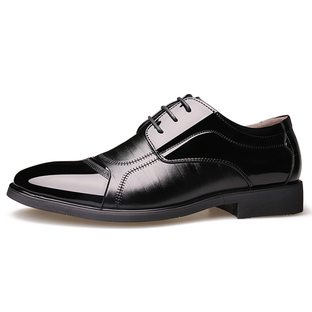 elegant formal men patent leather shoes italian elegant dress male footwear pointed toe business office working oxford shoes men