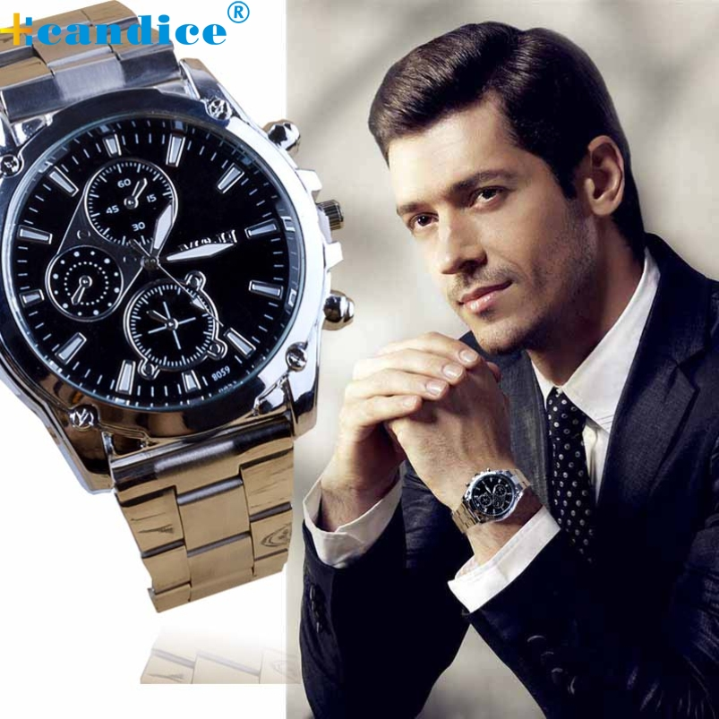 Splendid fashion business men shock resistant stainless steel band machinery sport reloj analog quartz luxury men