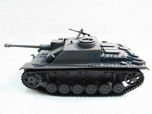 100% Metal Mato 1/16 Stug III RC Tank KIT Infrared Barrel Recoil 1226 Grey Color