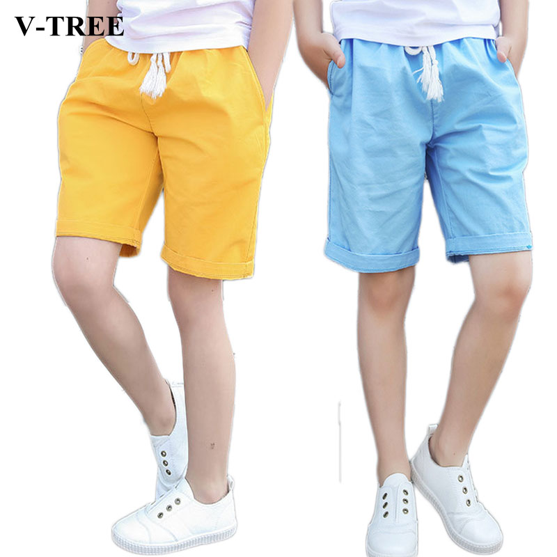 2019 summer boys   shorts   casual pants for kids cotton children   shorts   loose teenager sports pants leisure clothing 3-14T