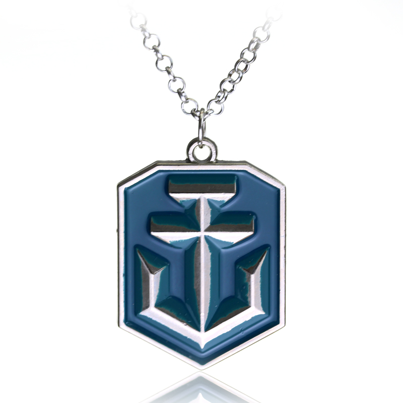 New Fashion online game World Of Tanks 5cm Metal Pendant Necklace link chain for fans souvenirs