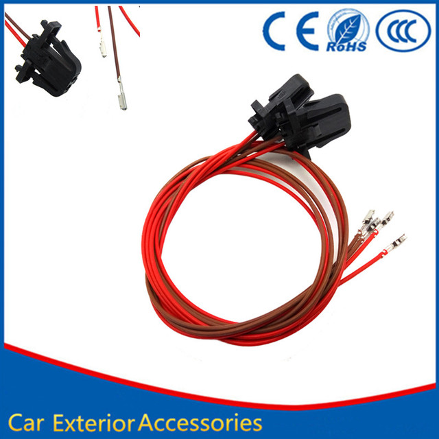 2PCS LED Door Warning Car Logo Lights Cable Wire Wiring harness for