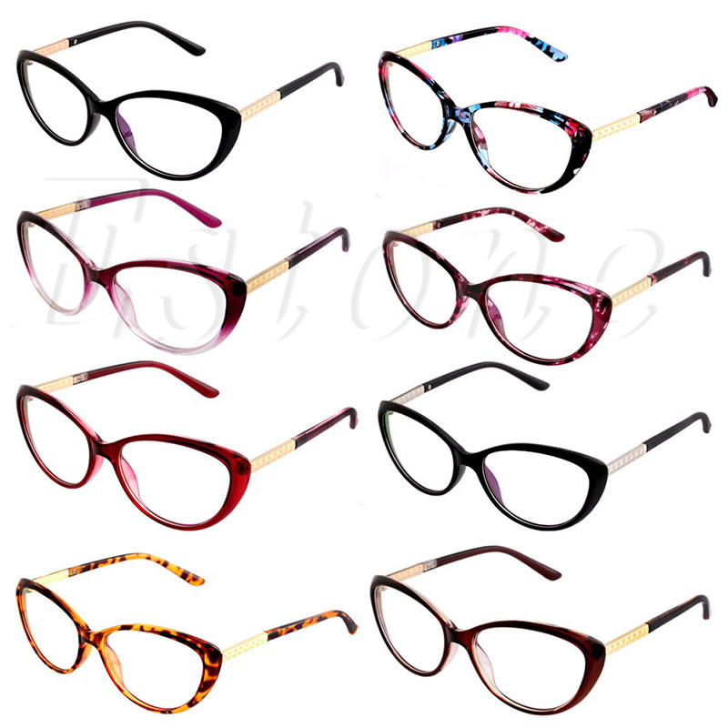 1b4ce6e2fa Women Frame Fashion Cat Eye Eyeglasses Clear Lens Ladies Eye Glasses  Spectacles Christmas Gifts for Girls-in Eyewear Frames from Apparel  Accessories on ...