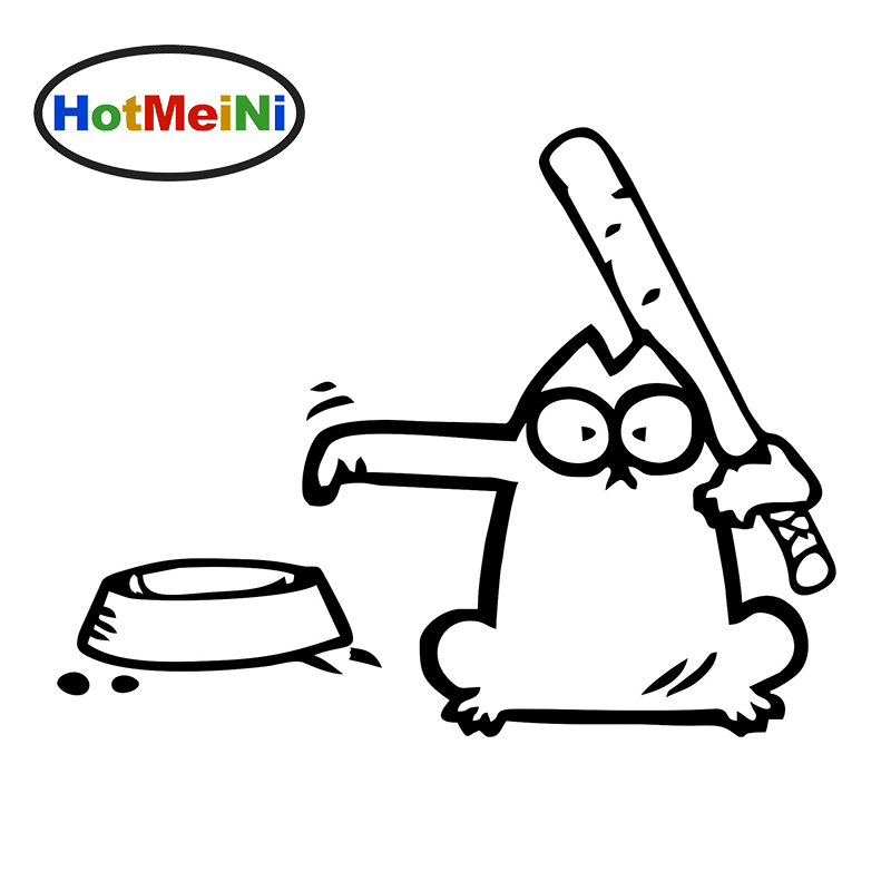 HotMeiNi 16*14 cm Simon'S Cat Hungry Car Window Sticker Vinyl Decal For Fuel Tank Cap Truck Bumper SUV Door Laptop Funny JDM hotmeini car sticker jdm body decorative side door suv decal reflective van fridge 2 pcs punisher military army star 50 50cm