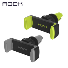 Rock 360 degrees Universal car air vent holder for mobile phone iphone 5s 6s plus mount stand for samsung support car DVR GPS