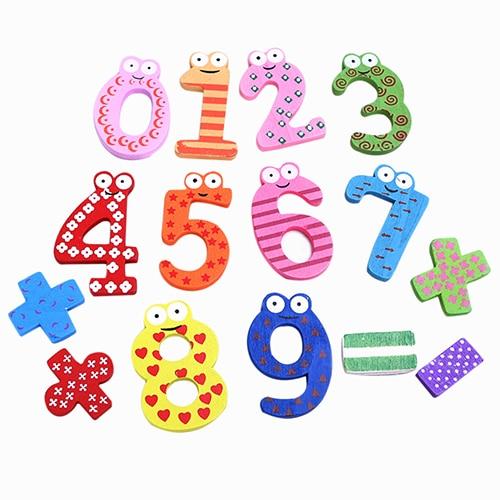 15 шт. деревянный числовой символ Магниты на холодильник детские развивающие Математика игрушки магнит на холодильник