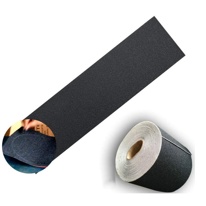 1pc84*23cm Skate Sandpaper Black Skate Scooter Sandpaper Sticker Perforated Skateboard Deck Grip Tape Skateboard Sand Paper Tape
