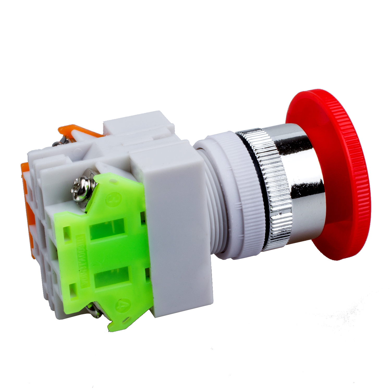 LHLL Red Mushroom Cap 1NO 1NC DPST Emergency Stop Push Button Switch ...