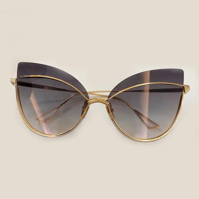 Cat Eye Sunglasses for Women Brand Designer High Quality Oculos De Sol Feminino 2019 New Fashion Shades with Box