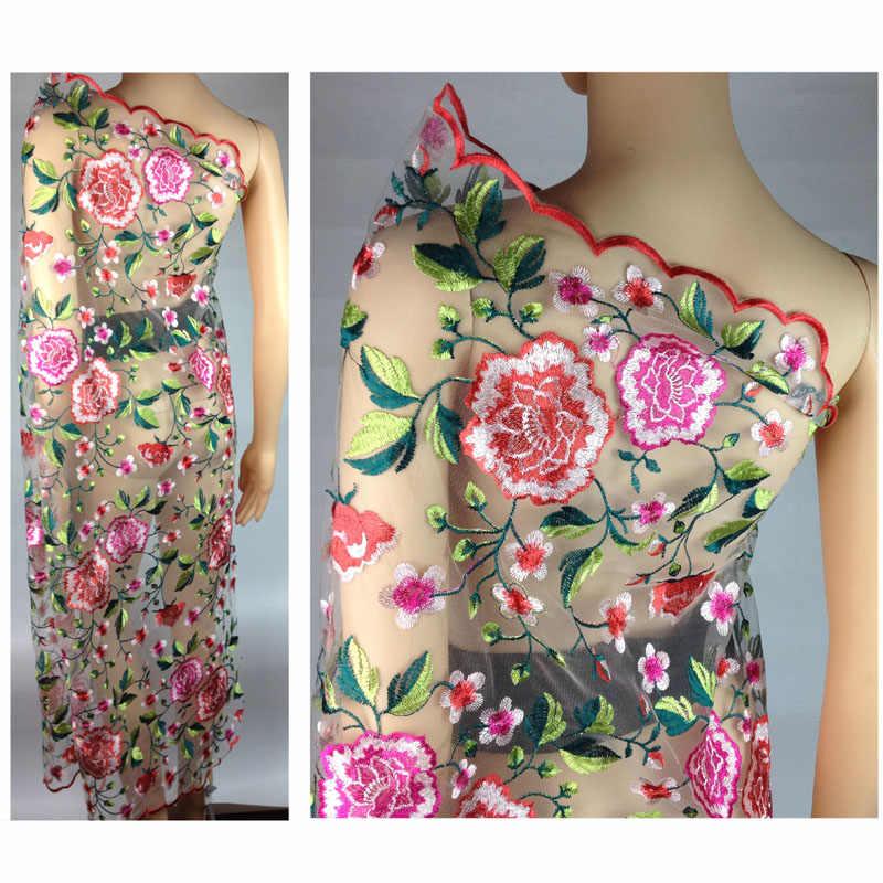 Tela de encaje de guipur africano, encaje Floral suizo francés, ancho: 120 cm, tejido de tela de retazos de vestido de novia Material tejido de paño