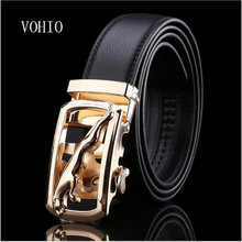 Free shipping 2017 Male strap genuine leather automatic buckle strap commercial casual cowhide belt male150cm 160cm Large size