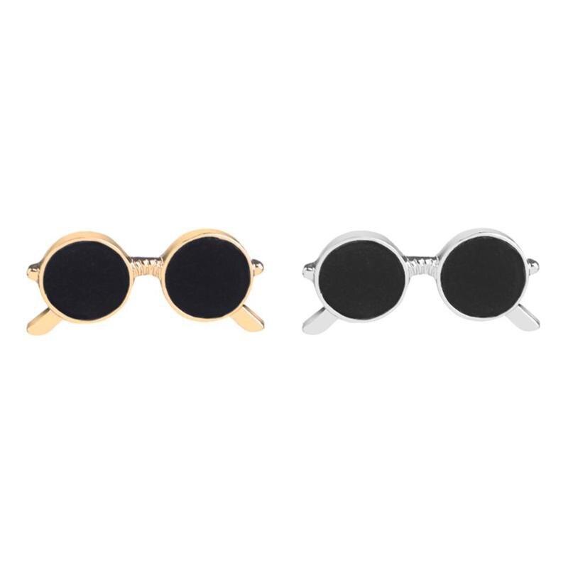 Miniature Sunglasses Pins: Mini Men Enamel Sunglasses Brooch Unisex Fashion Party
