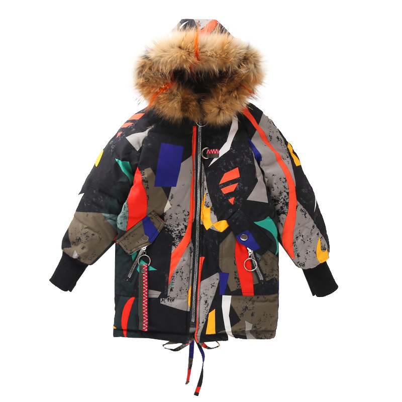 Image 2 - Girls Cotton padded Winter Jackets Children Warm Big Fur Hooded Outerwear Coats Children's Fashion Long Thick Jacket Coat-in Down & Parkas from Mother & Kids
