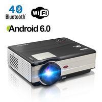 CAIWEI цифровой ЖК светодио дный светодиодный проектор Android 6,0 Wi Fi Proyector дома Театр Кино Аудио Видео ТВ Поддержка HD 1080p HDMI VGA