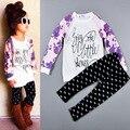 Kids New Girls Clothing Sets Leisure Baby Girls Clothes Suit Children Long sleeve T-Shirt +Pants roupas infantil meninas