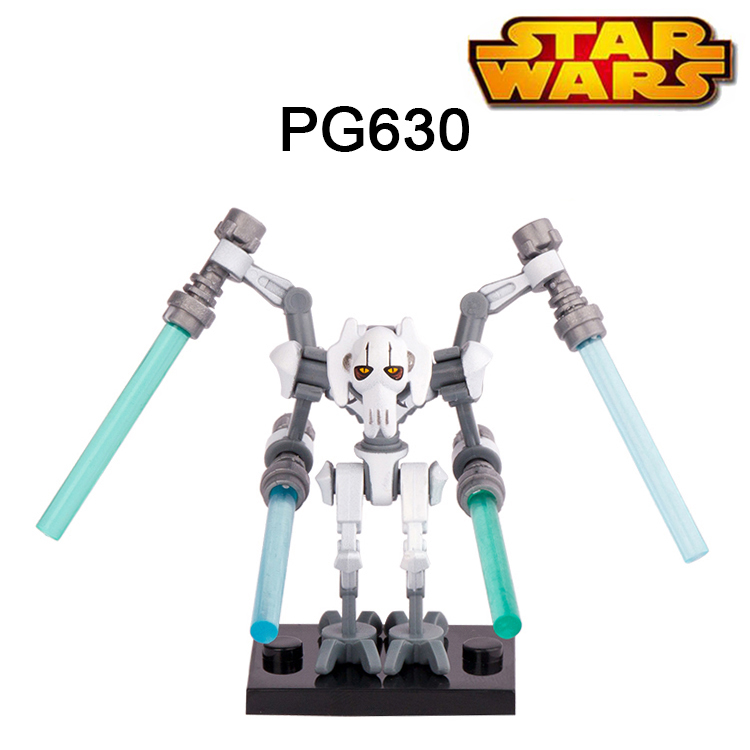 1PC <font><b>Star</b></font> <font><b>Wars</b></font> 7 Minifigures General Grievous With Lightsaber Building Blocks The Force Awakens Starwars Block For Kids Gift Toys