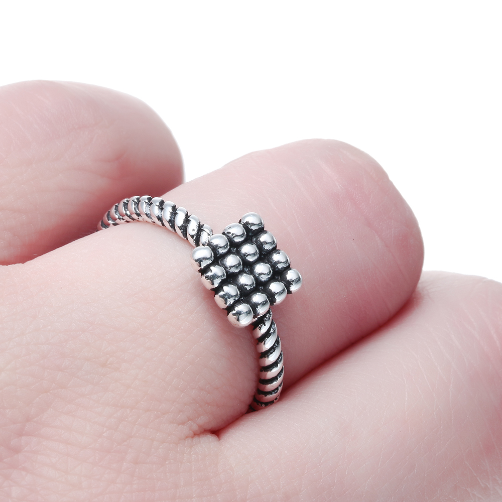 2017 new arrival lotus root Adjustable simple rings for women fashion Antique silver plated ring party gift jewelry for men