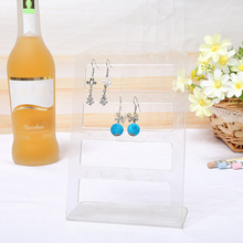 24 Holes Earring Jewelry Plastic Show Case Display Rack Stand Organizer Holder Jewelry Display Stand Earring Organizer Is Very transparent acrylic earring holder organizer hanger display stand with 48 holes detachable