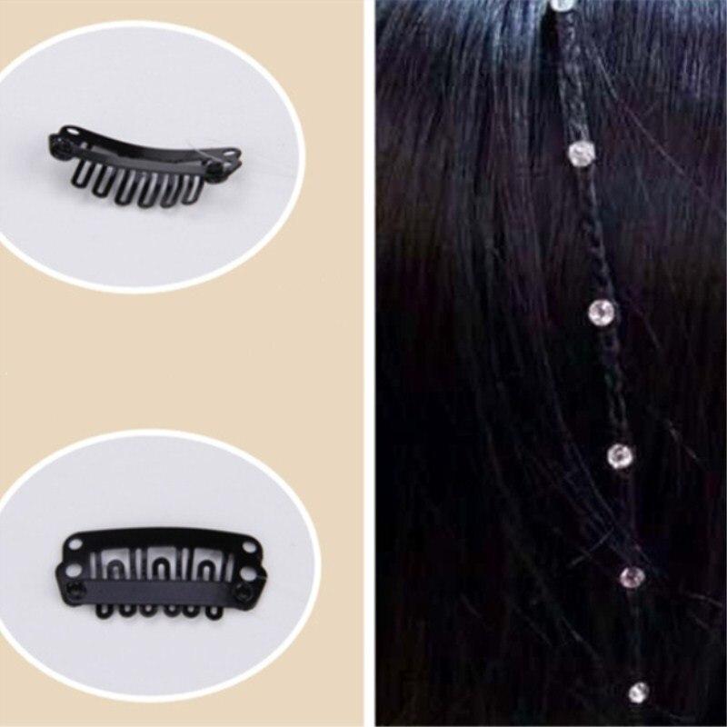 1Pc Cute BB Clip Accessories Hair Pins Hairpins Fish Line Rhinestone Hair Clips Wedding Party for Women Girls Headwear Headwrap