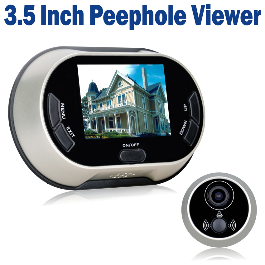 3.5 inch Color LCD Digital Video Door Viewer Peephole Doorbell CCTV Home Security Camera Powered by 3pcs AA Battery цена