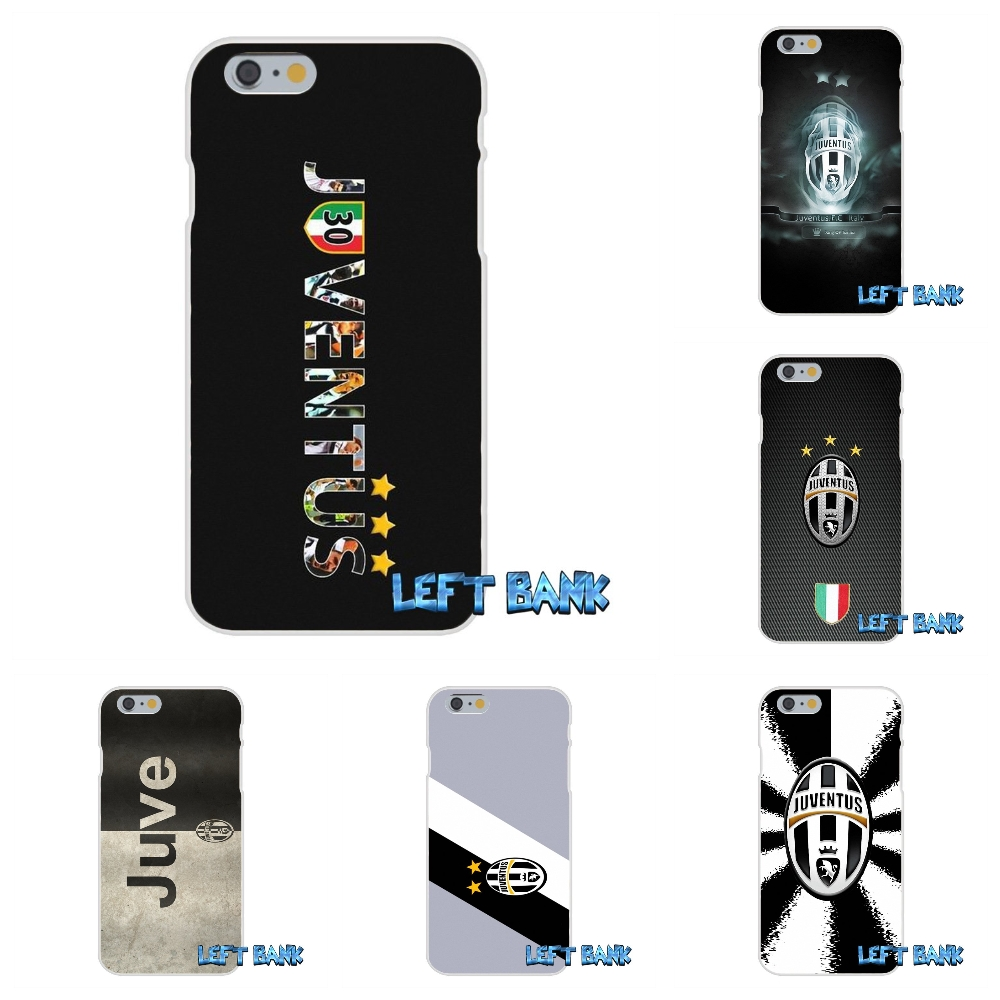 Juve juventus FC Logo Soft Silicone TPU Transparent Cover Case For iPhone 4 4S 5 5S 5C SE 6 6S 7 Plus