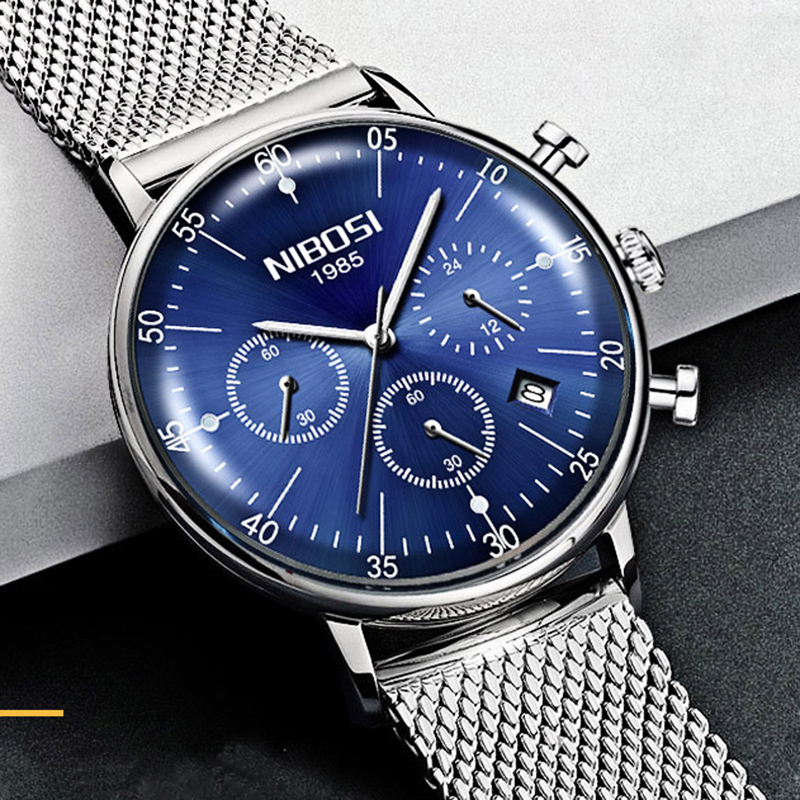 NIBOSI Quartz Watches Men Minimalist Army Military Luminous Deportivo Waterproof Luxury Watches Men Top Brand Relogio Masculino