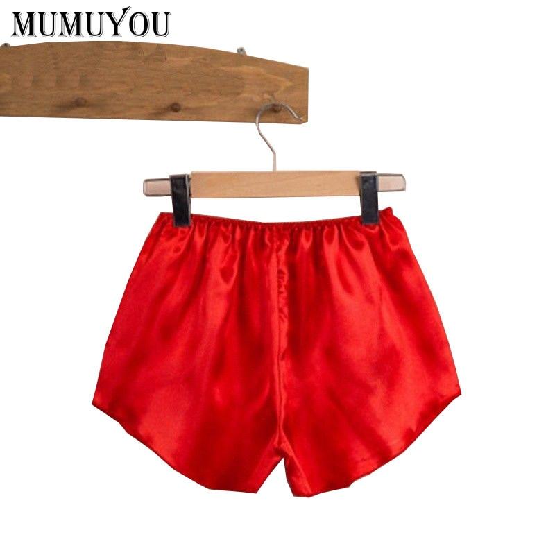 Damen-nachtwäsche Frauen Casual Faux Silk Schlaf Bottoms 5 Farben Solide Elastische Taille Shorts Pyjama Hosen Atmungs Pyjama Bottoms 915-098 Reisen