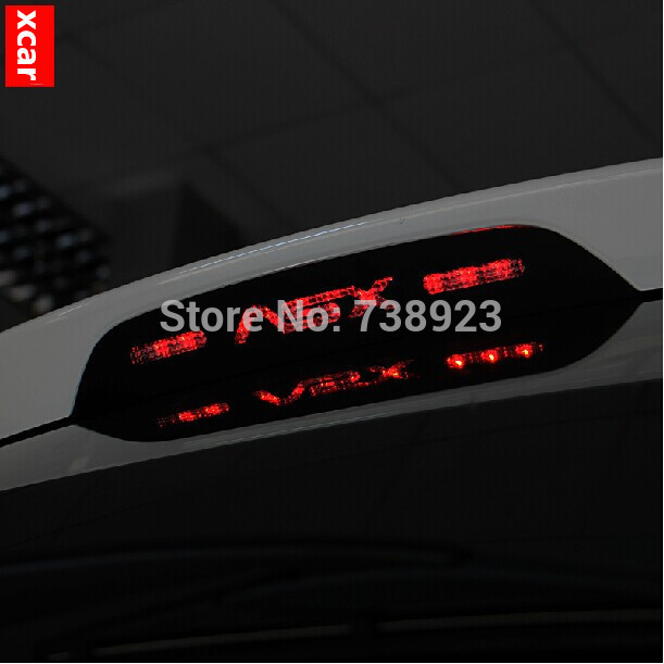 Free shipping!For Mitsubishi ASX 2013 2014 Alloy Aluminum Brake lights cover sticker HMSL cover for ASX accessories