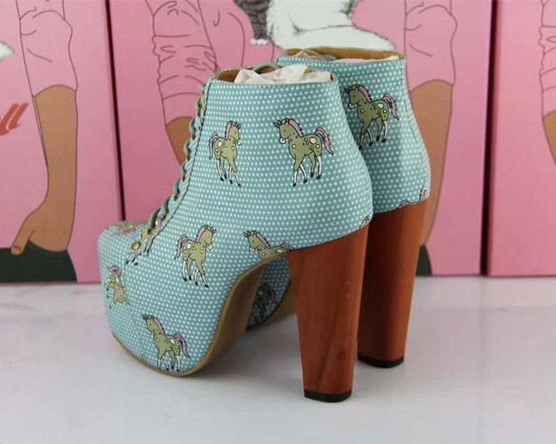 Frauen Leder Frau Winter 12 Himmel Chelsea Fersen Plattform Boot Mujer Aus Stiefel Stiefeletten Echtem Damen blau Schuhe Cm Quadratische Botas Design z1Wqz5rwX