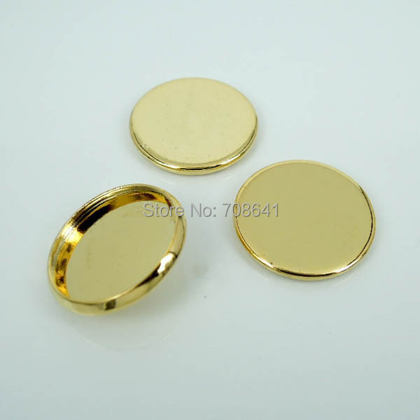 Blank Round Smooth Bezel Trays Pad Bases Settings Resin Cabochon Findings for Floating Charm Lockets Making