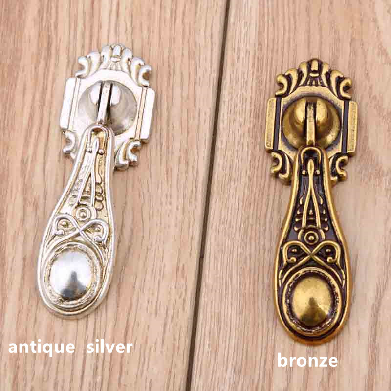 europe vintage distress silver drawer cabinet knobs pulls bronze drop dresser handles knobs retro shaky pendant furniture knobs 120mm antique brass solid shaky cabinet dresser door pulls 86mm bronze drawer knobs pull rustico retro rings furniture handles