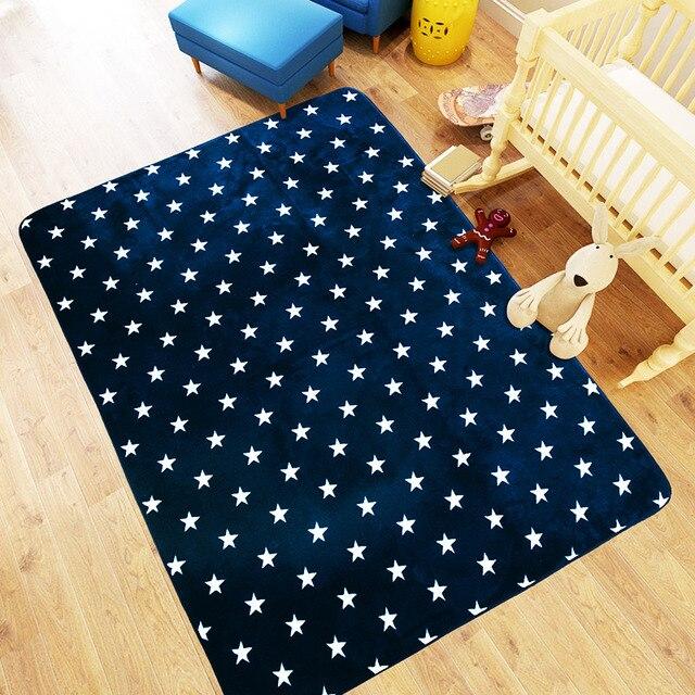 Sterne Matte 130X185 CM Nacht Teppiche Fr Wohnzimmer Kinder Couchtisch Bereich Teppich Spielen
