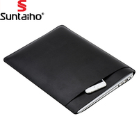 Portable PU Leather For MacBook Air Pro Retina 11 12 13 15 Inch Laptop Bag Case