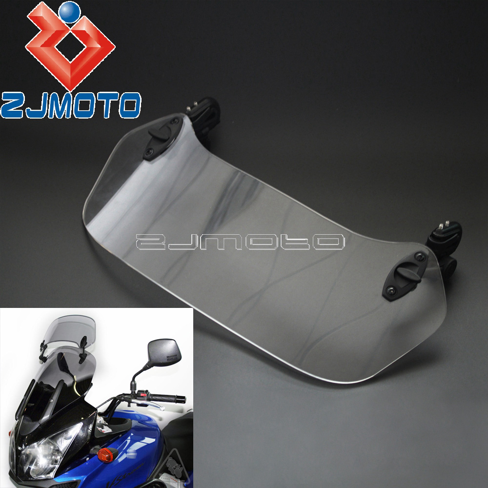 Motorcycle Adjustable Clip-On Windscreen Extension Spoiler Windshield Air Deflector X-Creen For Suzuki DL 650 V-Strom 1000 Мотоцикл