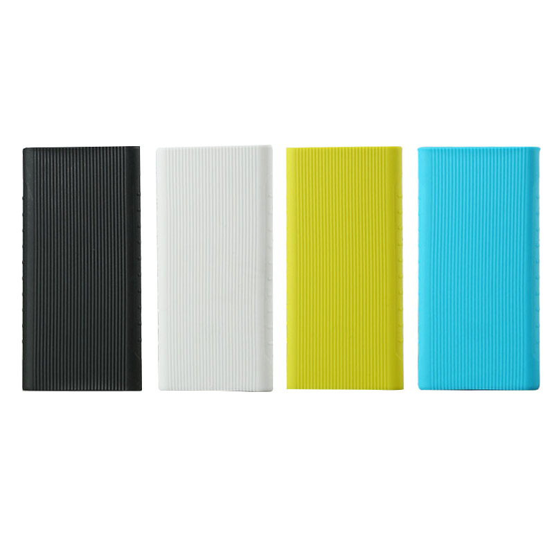 New Silicone Protector Case Cover For Xiaomi Power Bank 2 10000 mAh Dual USB Port Skin Shell Sleeve For Power bank Model PLM09ZM Pakistan
