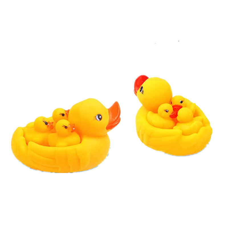 4Pcs/lot cute child baby bath duck bath accessory product animal baby shower swimming pool accessories for kids children