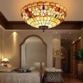 Европейский современный потолочный светильник tiffany  раковина для спальни  балкона  прихожая  потолочный светильник 20 дюймов