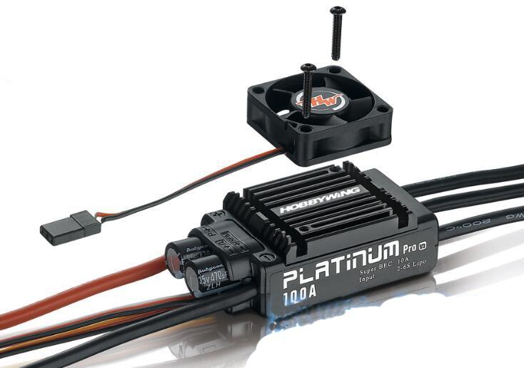 1 PC Hobbywing Platinum 60A 80A 100A 120A V3 sans balai ESC 2-6 S régulateur de vitesse électrique fr RC 450L 500 550 hélicoptère