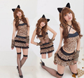 new Sexy Halloween  Female clothes Maomao animals Leopard cat  dress Cosplay  Costume free Size for Halloween hot sale 06