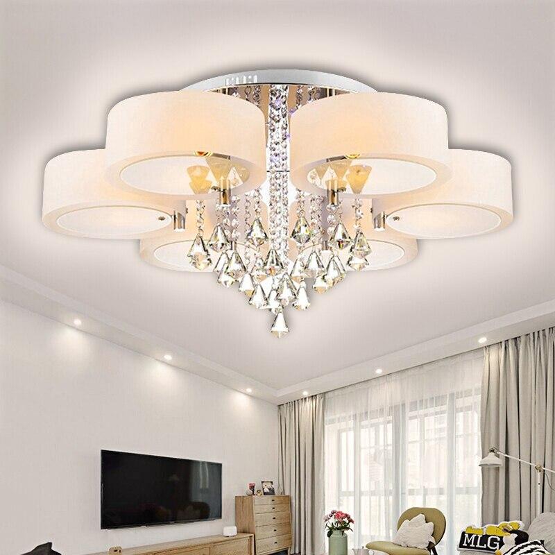2019 modernas luzes de teto led para sala estar luminarias parágrafo luminárias teto quarto iluminação com controle remoto