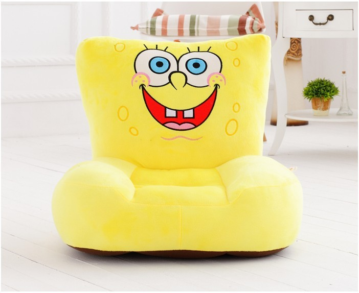new yellow plush spongebob sofa toy cartoon spongebob design floor seat tatami about 50x45cm s1961 new arrival large about 55cm cartoon animal design plush seat cushion tatami plush toy sofa floor seat w5291
