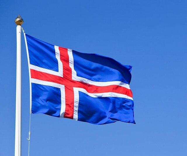 vlag 150x90 cm nieuwe 100% polyester ijsland vlag in vlag 150x90 cm