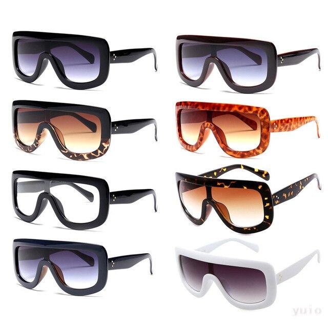 aefe4718e1ea Retro Women s Big Style Sunglasses Vintage Oversized Designer Shades  Eyeglasses