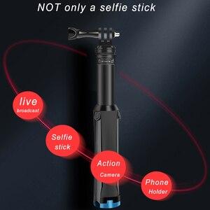 Image 4 - Selfie Stick Monopodพับได้2in1ขาตั้งกล้องสำหรับGoPro Hero 9 8 7 5 Yi SJCAM Osmoกล้อง/โทรศัพท์มือถือ