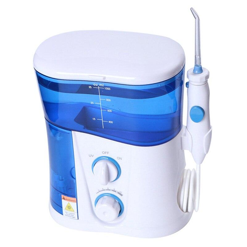 물 flosser 1000 ml 치과 구강 irrigator 7 종류의 노즐 세척 치과 spa 청소 flossing 구강 irrigator-에서구강세척기부터 가전 제품 의  그룹 1