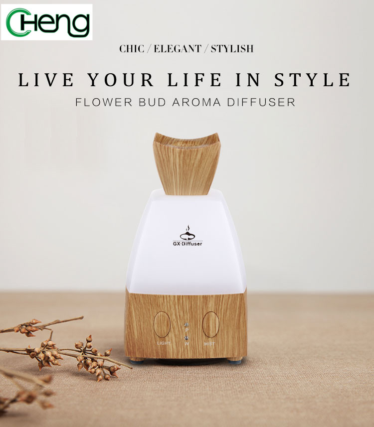 Mini Wooden Aromatherapy LED Changing Light  Diffuser Ultrasonic Humidifier Essential Oil Aroma Diffuser Air Purifier Mist maker 130ml usb mini wooden ultrasonic aromatherapy humidifier portable mist maker led light dc 5v aroma diffuser air purifier
