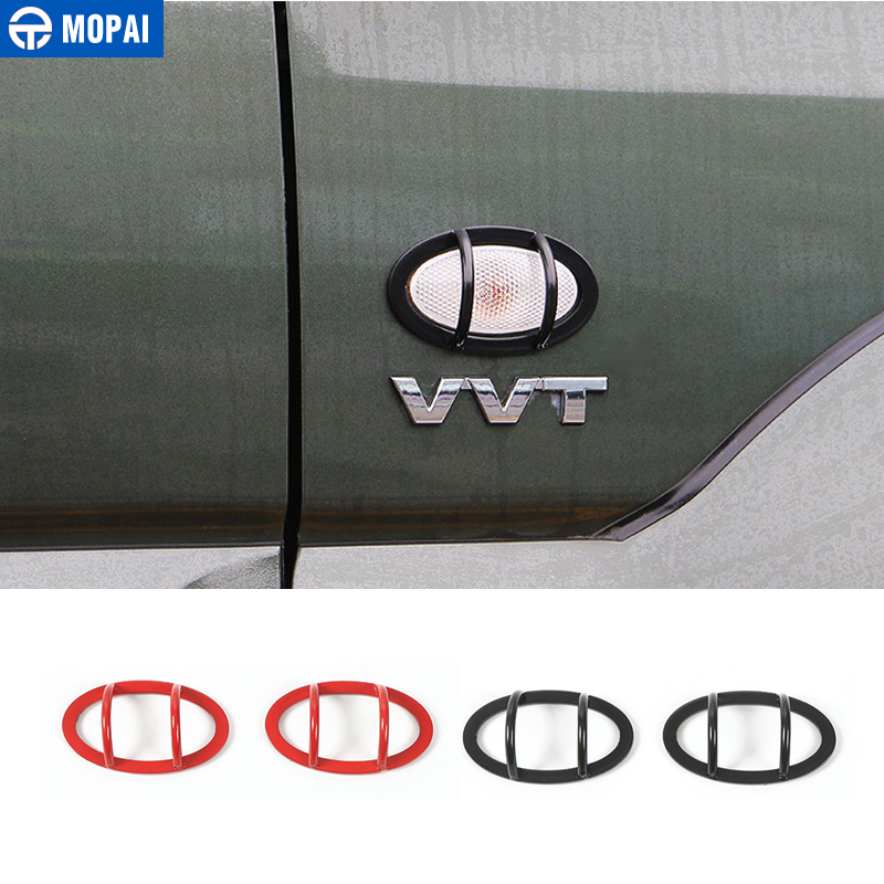 MOPAI Metal Car Exterior Turn Signal Light Lamp Decoration Cover Protect Stickers For Suzuki Jimny 2008 Up Car Styling mopai new arrival car exterior rear triangle glass decoration cover stickers for jeep compass 2017 up car styling