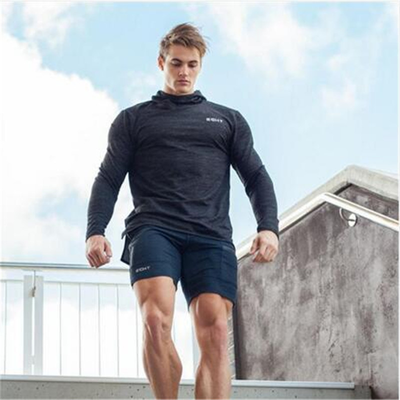 2017New Fashion Men Sporting Beaching Shorts Trousers Cotton Bodybuilding Sweatpants Fitness Short Jogger Casual Gyms Men Shorts