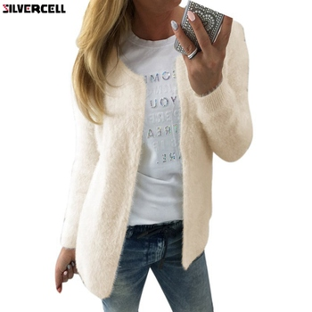 Fashion Spring Autumn Women Casual Cardigans Long Sleeve Short Knitted Coat New Female Sweaters Open Stitch image
