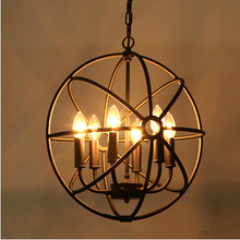 loft American style retro nordic vintage Pendant Light iron industrial hanging lamp living room dining room